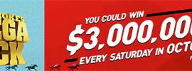 $3 million mega pick bet